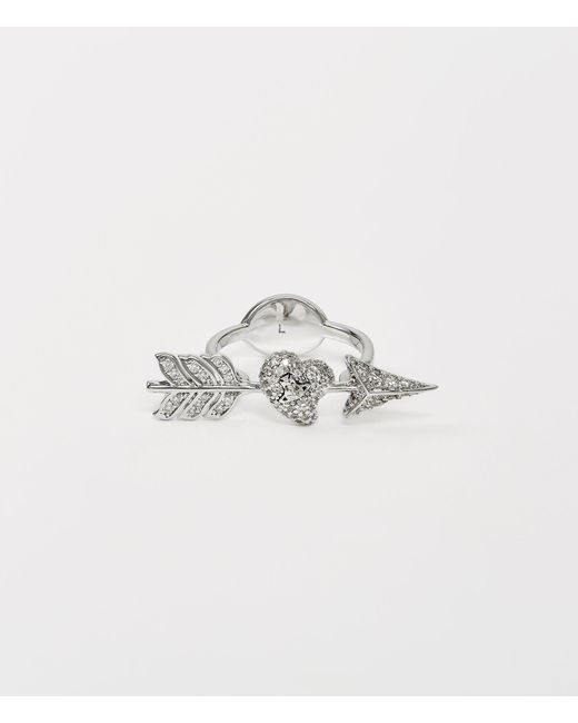Vivienne Westwood Metallic Luminita Ring Silver Tone