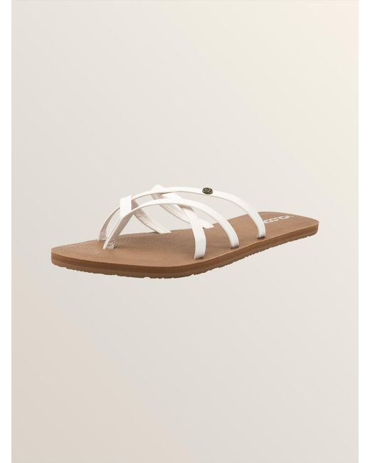 07f846a3d6e4 Lyst - Volcom New School Sandals in White - Save 20%