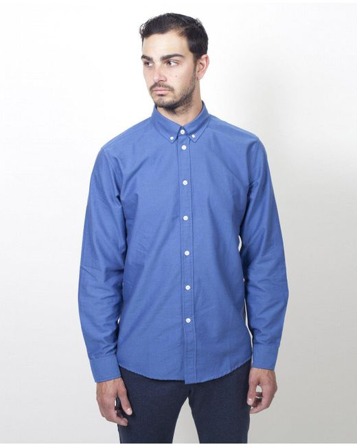 Soulland - Goldsmith Shirt / Indigo Blue for Men - Lyst