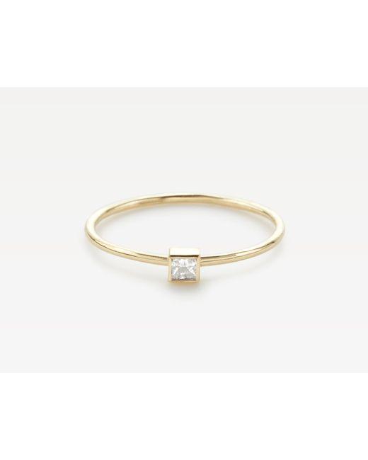 Vrai & Oro | Metallic Square White Diamond Stacker | Lyst