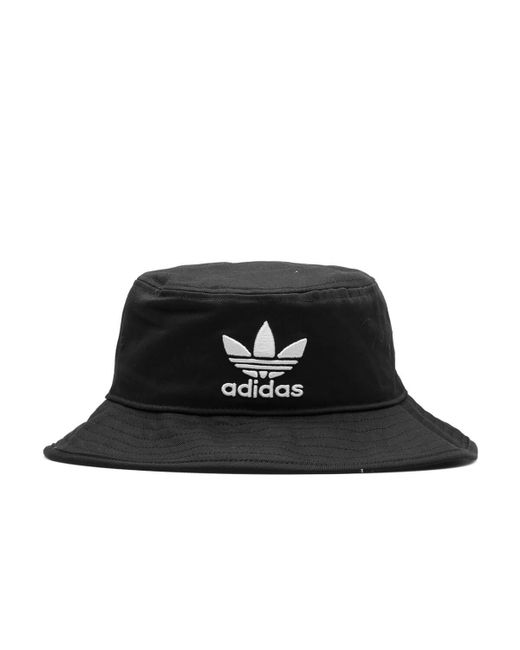 Adidas Originals - Black Bucket Hat for Men - Lyst