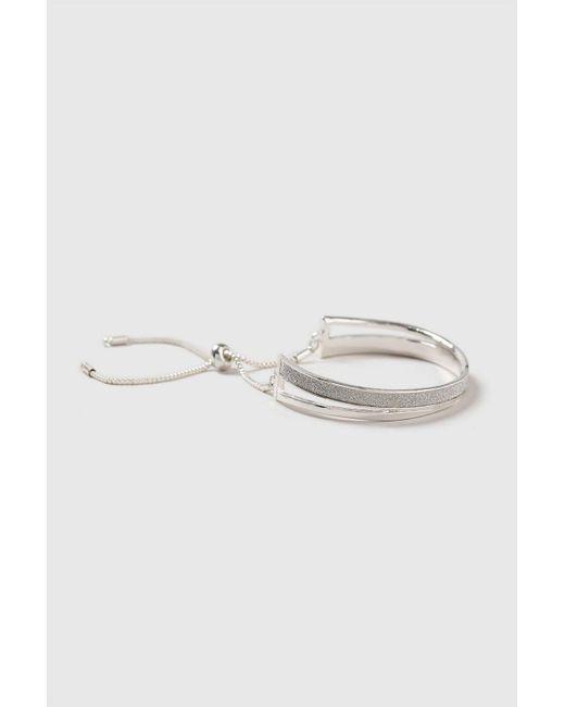 Wallis Metallic Silver Glitter Bracelet Lyst