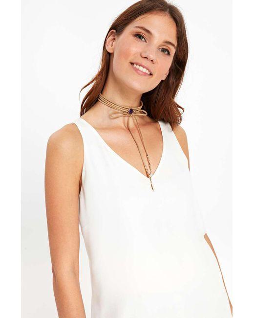 Wallis   Natural Purple Semi-precious Stone Wrap Choker Necklace   Lyst