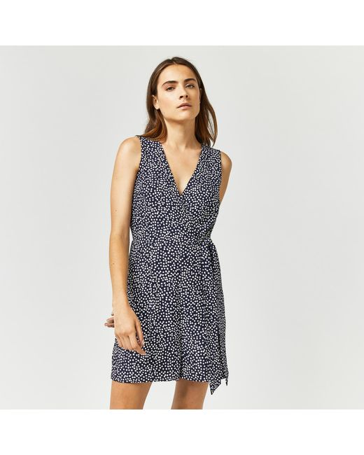 Warehouse | Blue Woodblock Play Suit | Lyst