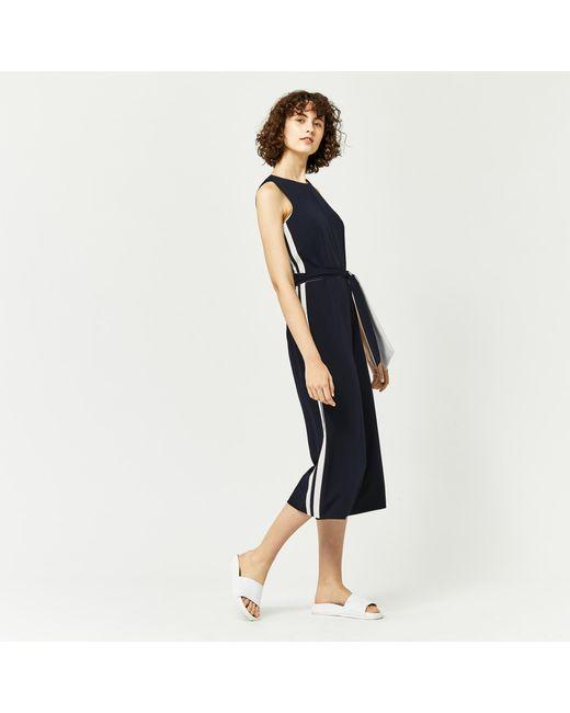 Warehouse | Blue Stripe Side Jumpsuit | Lyst