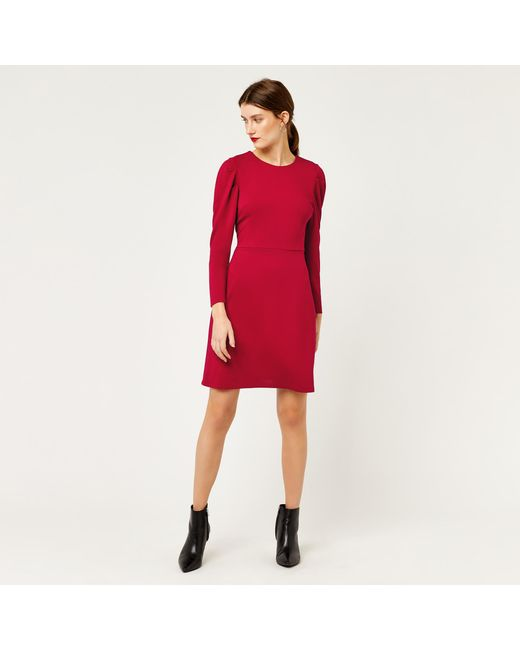 Free Shipping Websites Clearance Pre Order Womens Puff Sleeve Ponte Dress Warehouse QRY1R