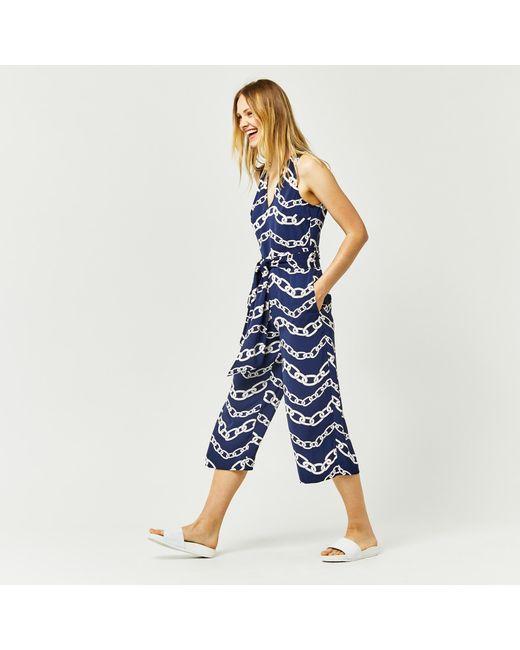 Warehouse | Blue Chain Print Jumpsuit | Lyst