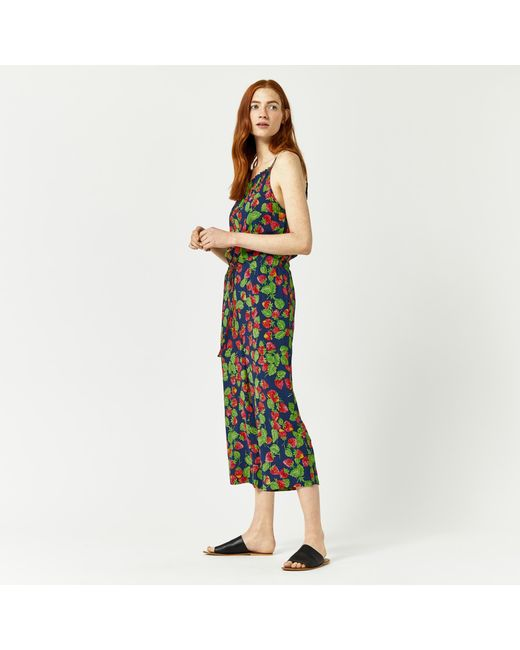 Warehouse | Blue Strawberry Print Jumpsuit | Lyst