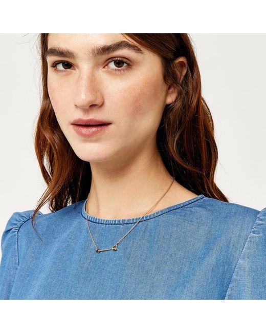 Warehouse | Multicolor Black Stone Arrow Necklace | Lyst