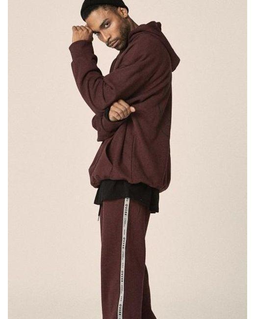 OVERR - Multicolor 17fw Side Taping Burgundy Pants for Men - Lyst