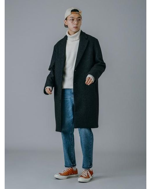 UNIIS DESIGN - Uns Loose Fit Quilting Coat_gray - Lyst