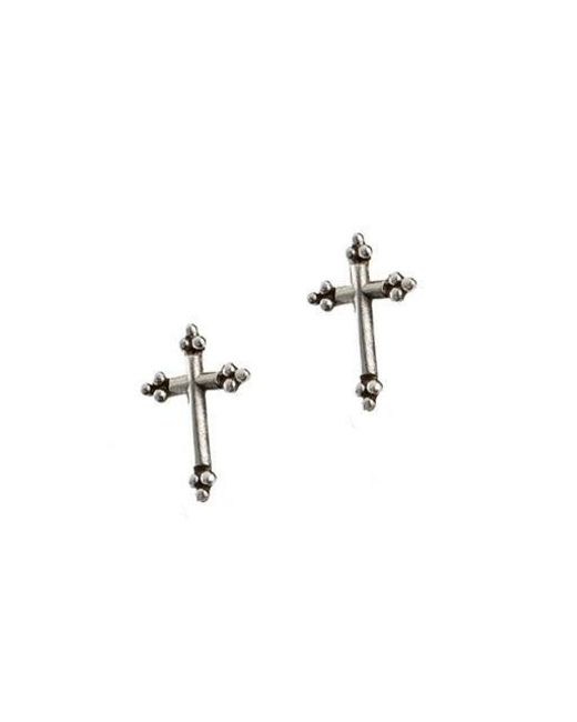 W Concept - Multicolor Anticque Cross Simple Earring - Lyst