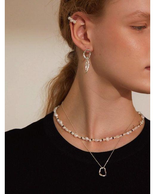 Matias Brown Black Dot Necklace