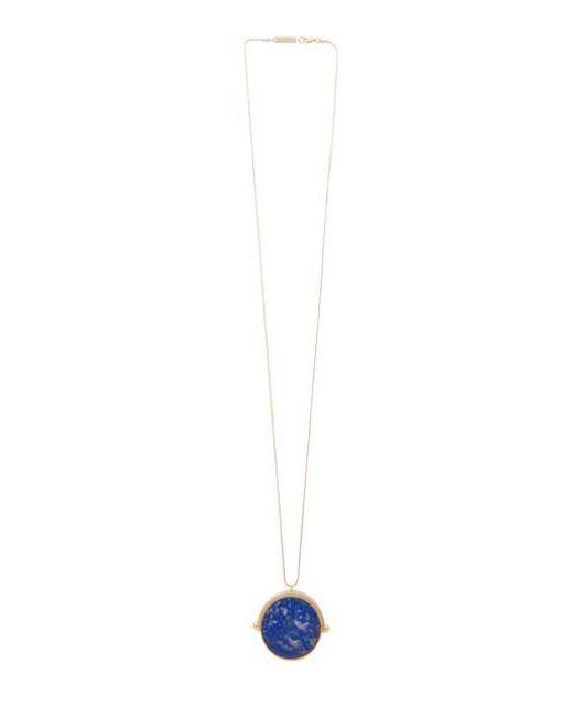 VIOLLINA - Multicolor Lapis Round Back Pendant Necklace - Lyst
