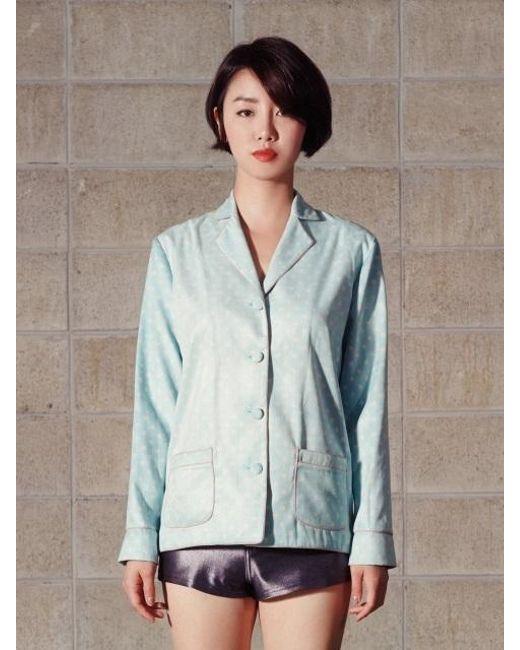 NASTY HABIT - Blue Pajama Dot Printed Shirt - Lyst