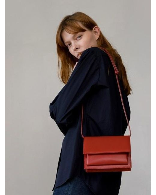 DEMERIEL - Classic Bag Garnet-red Mini - Lyst