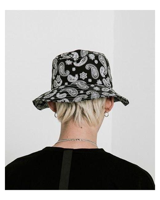 23ef7d14ffe VLADVLADES  unisex  Paisley Bucket Hat 01 Black in Black - Lyst
