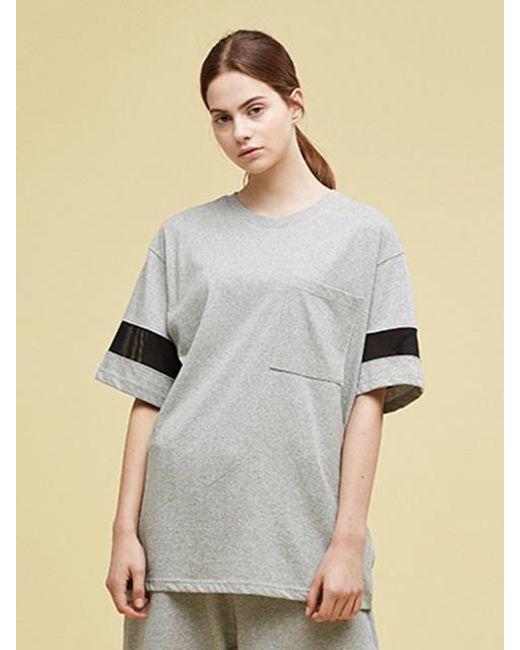 W Concept | Gray N Pocket Tshirts_gr | Lyst