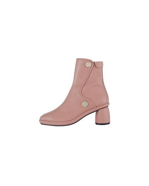 Reike Nen Pink Curved Middle Ankle Boots