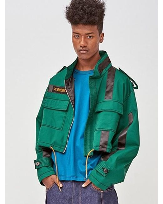 DOZOH - Green [unisex] Off Patched Jacket - Lyst