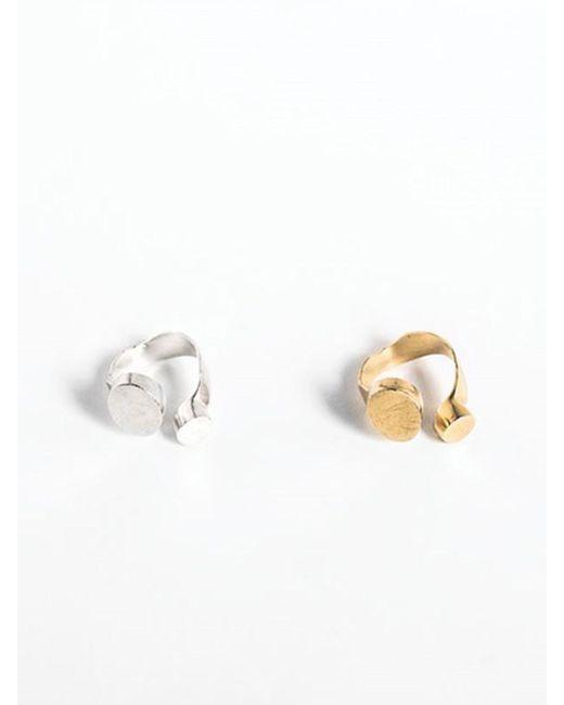 A.NEUJAC - Metallic Flat Round And Oval - Lyst