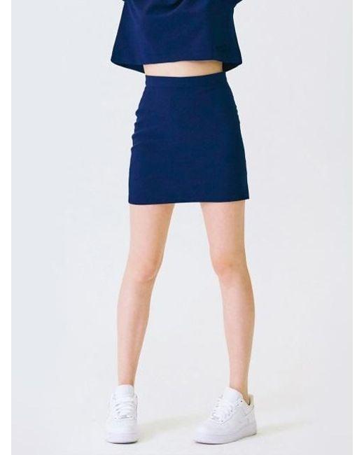 MIGNONNEUF - Blue Club Miniskirt Indigo - Lyst