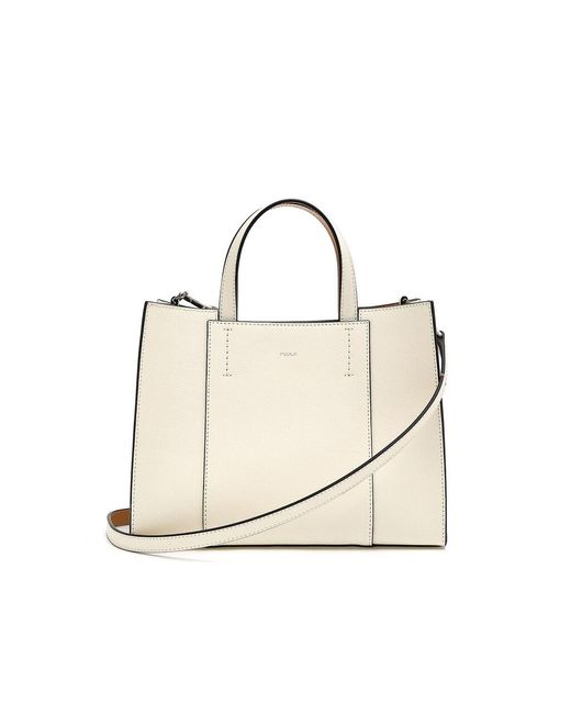 ROSA.K White Domino Tote Bag M