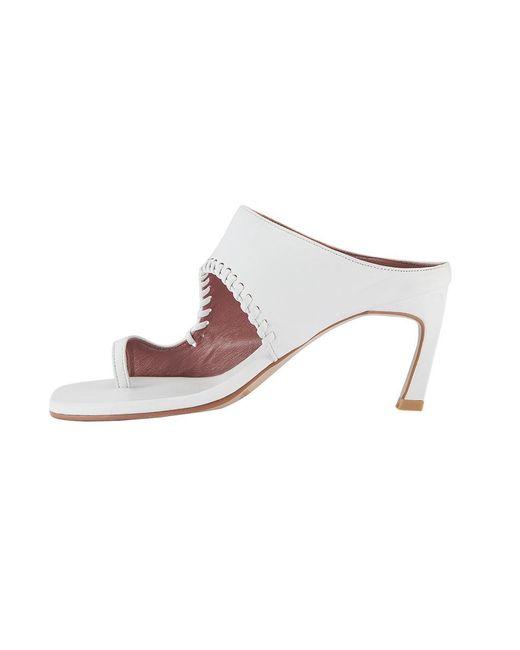 Reike Nen White Rk2-sh021 Asymmetry Turnover Sandal