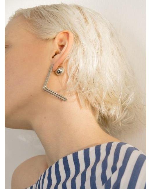 VIOLLINA - Metallic Hanguel Alphabet Single Earring-1 Silver - Lyst
