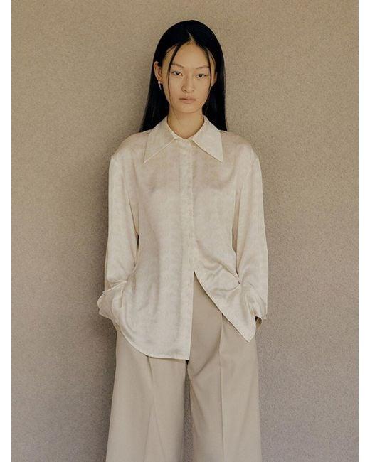 Low Classic Natural Collar Point Shirt (print)