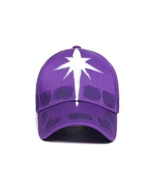 f37931e8a2e Lyst - Yan13 Cross Custom Ball Cap purple in Purple for Men