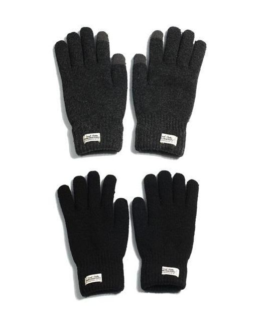W Concept | Black Touch Gloves Wh Label for Men | Lyst