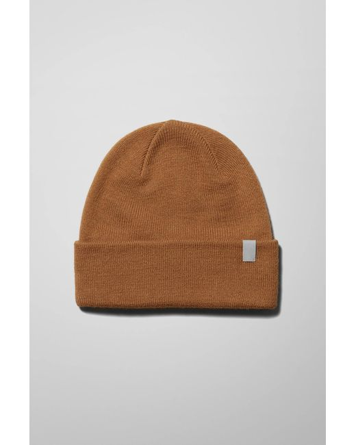 Weekday Natural Icon Knit Beanie for men