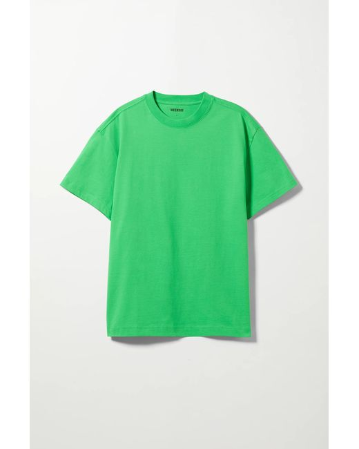 Weekday Green Oversized T-shirt for men