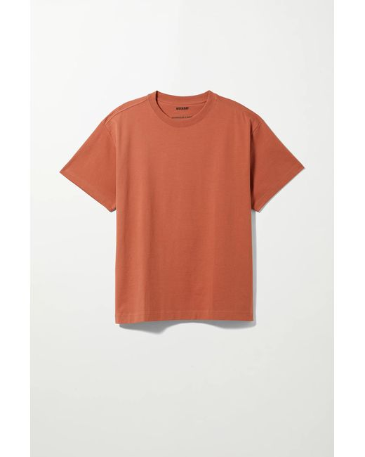 Weekday Orange Oversized T-shirt for men