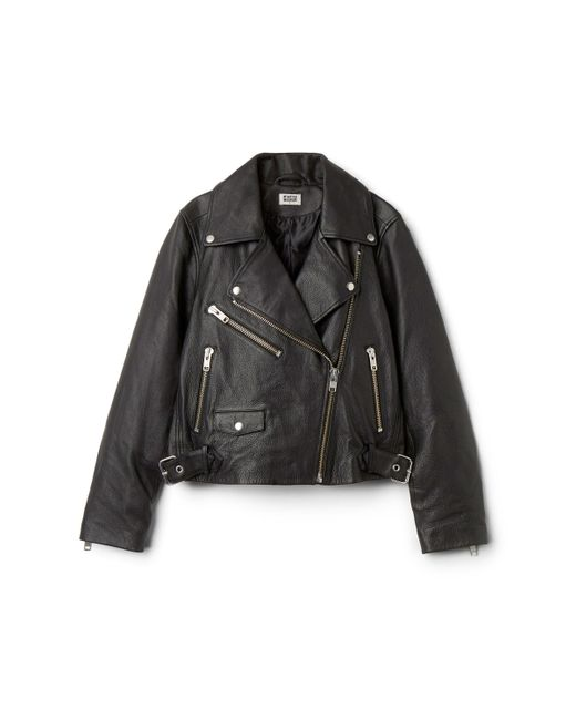 Weekday - Black Jemina Leather Jacket - Lyst