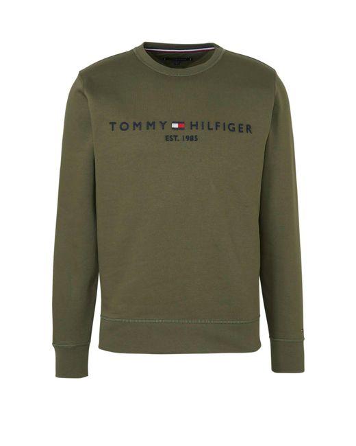 Tommy Hilfiger Sweater Met Tekst Groen in het Green voor heren