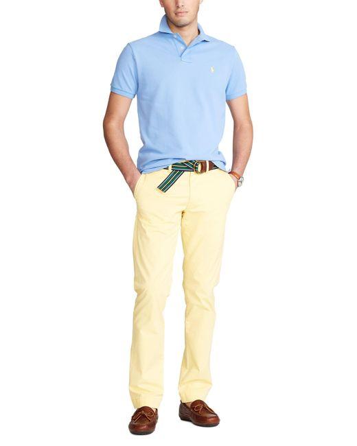 Polo Ralph Lauren Slim Fit Polo in het Blue voor heren