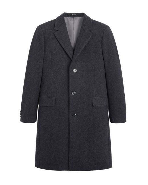 Mango Gemêleerde Coat Met Wol in het Gray voor heren