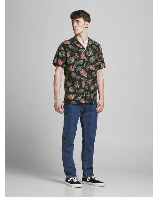 Jack & Jones Slim Fit Overhemd Jortropicana Resort Met All Over Print in het Multicolor voor heren