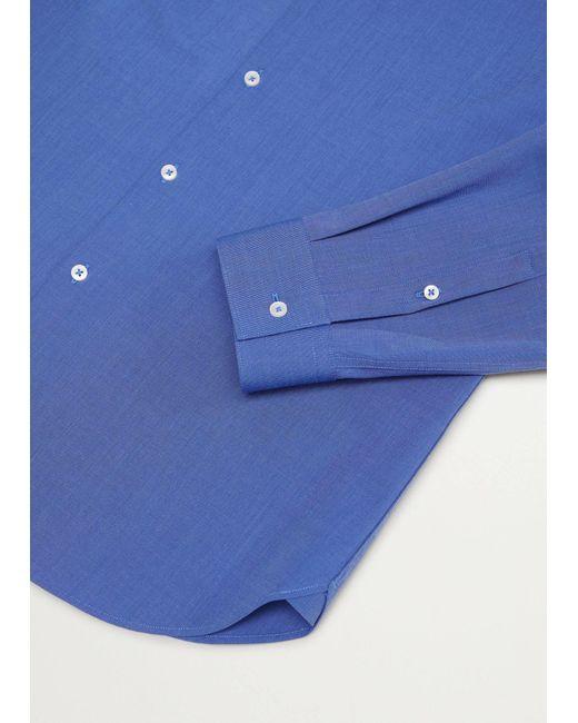 Mango Slim Fit Overhemd in het Blue voor heren