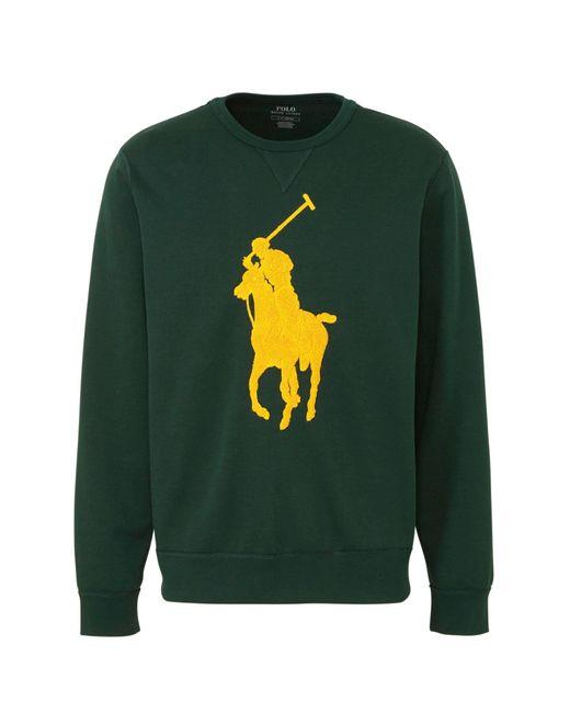 Polo Ralph Lauren Sweater Met Logo Groen/geel in het Green voor heren