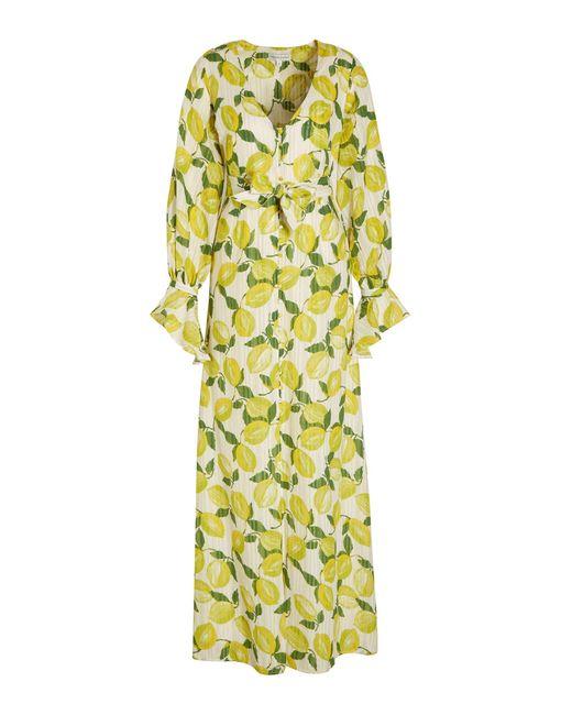 FABIENNE CHAPOT Maxi Jurk Outshine The Bride Met All Over Print En Glitters in het Yellow