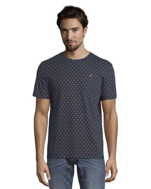 Tom Tailor T-shirt Met All Over Print in het Blue voor heren