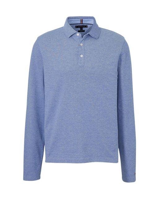 Tommy Hilfiger Gemêleerde Slim Fit Polo Blauw in het Blue voor heren
