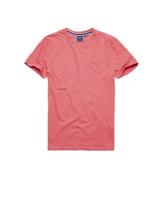 Superdry T-shirt Met Logo in het Pink voor heren