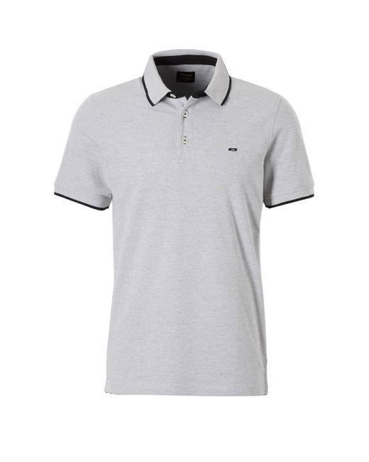 Jack & Jones Essentials Paulos Slim Fit Polo in het Gray voor heren