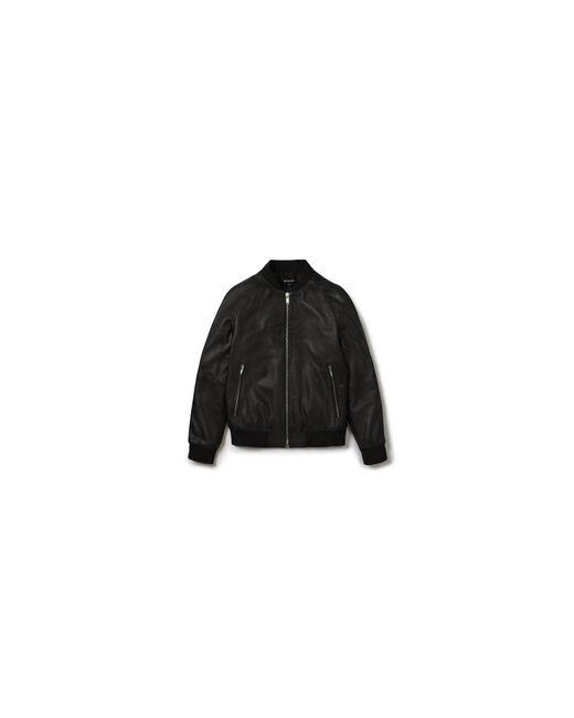 Whistles | Black Leather Bomber for Men | Lyst