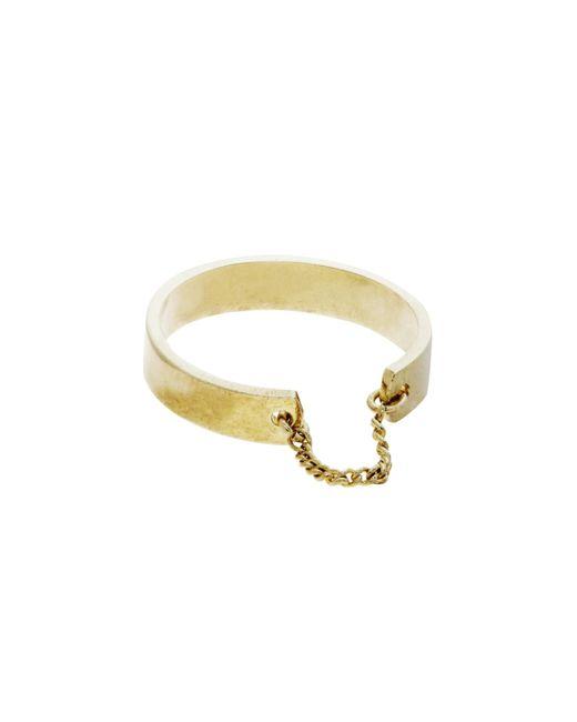 Whistles   Metallic Chain Hoop Ring   Lyst