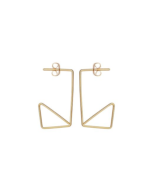 Whistles | Metallic Wire Rectangle Earring | Lyst